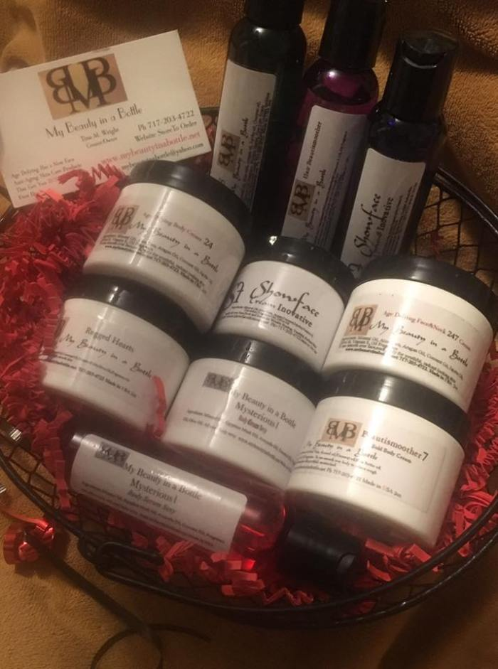Beauty Basket by My Beauty in a Bottle - locally made anti-aging skin care products