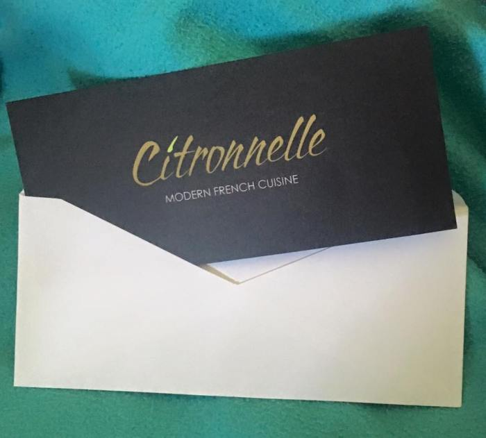 A $25 gift certificate to Citronnelle Restaurant (Lancaster). If you've never been there, you should go - their food is amazing!