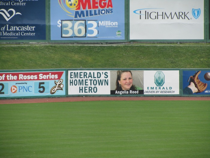 Angelia's picture in Clipper Magazin Stadium!