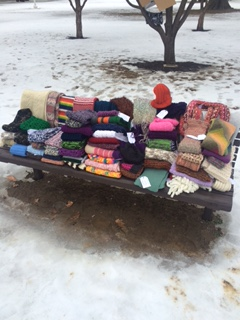 A bench full of items for WUL!