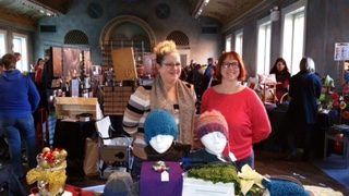Angelia Reed and Jenn Dixon representing WUL at a craft show.