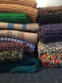 Stack of scarves