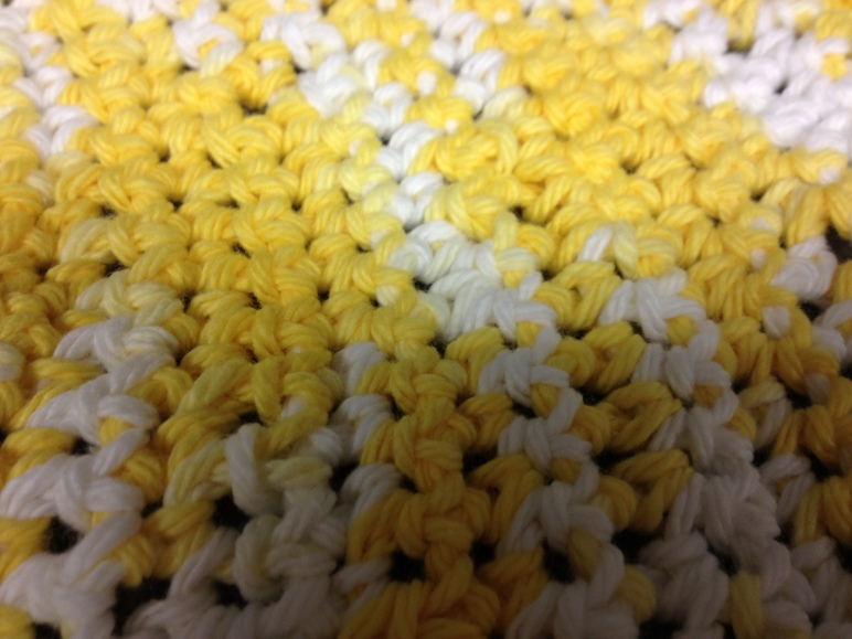 Crocheted swatch