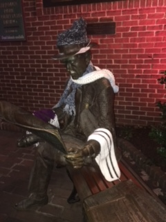 Steinman Park Statue with scarves