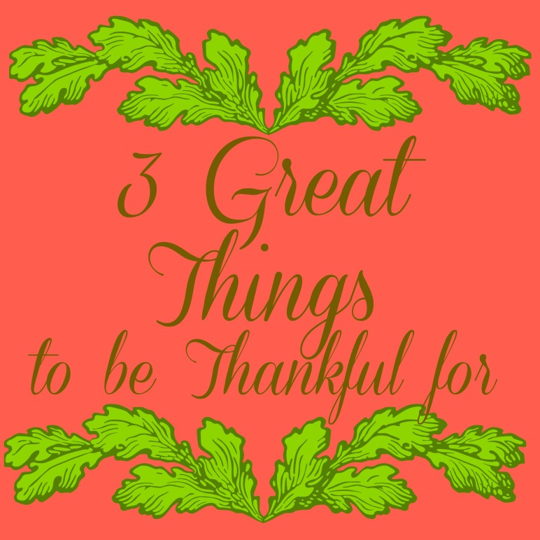 3 things to be thankful for