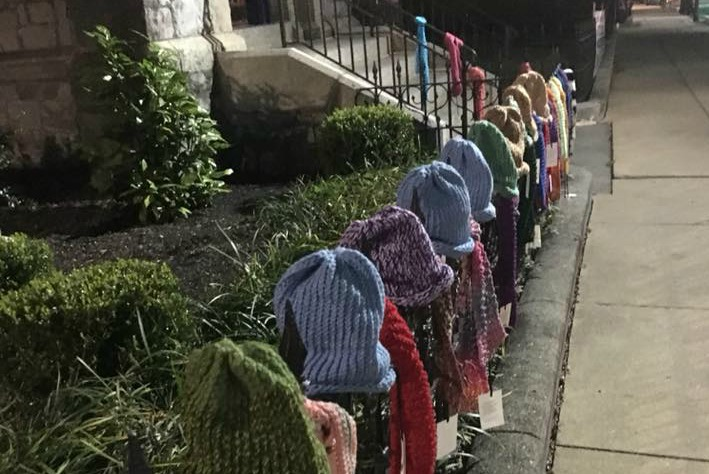 Scarf-bombing at St. James Episcopal Church